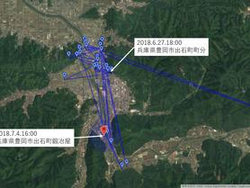 GPS情報 J0097♂ 2018.6.27.18:00~2018.7.4.16:00
