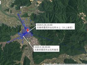 GPS情報 J0097♂ 2020.5.18.20:00~2020.5.26.16:00