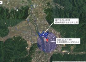 GPS情報 J0097♂ 2019.9.25.18:00~2019.10.2.16:00