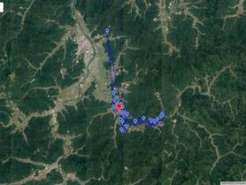 GPS情報 J0097♂ 2018.8.29.18:00~2018.9.5.16:00