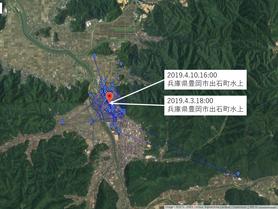GPS情報 J0097♂ 2019.4.3.18:00~2019.4.10.16:00