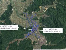 GPS情報 J0097♂ 2019.10.16.18:00~2019.10.23.16:00