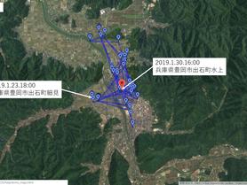 GPS情報 J0097♂ 2019.1.23.18:00~2019.1.30.16:00