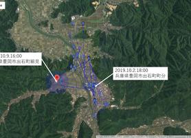 GPS情報 J0097♂ 2019.10.2.18:00~2019.10.9.16:00