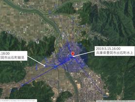 GPS情報 J0097♂ 2019.5.8.18:00~2019.5.15.16:00