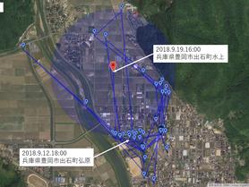 GPS情報 J0097♂ 2018.9.12.18:00~2018.9.19.16:00