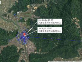 GPS情報 J0097♂ 2019.4.24.18:00~2019.5.1.16:00