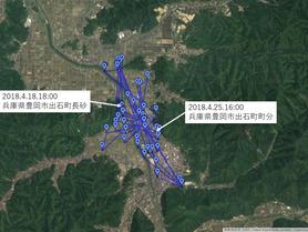 GPS情報 J0097♂ 2018.4.18.18:00~2018.4.25.16:00
