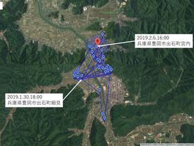 GPS情報 J0097♂ 2019.1.30.18:00~2019.2.6.16:00