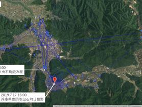 GPS情報 J0097♂ 2019.7.10.18:00~2019.7.17.16:00