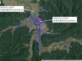 GPS情報 J0097♂ 2019.8.7.18:00~2019.8.14.16:00