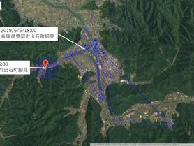 GPS情報 J0097♂ 2019.6.5.18:00~2019.6.12.16:00