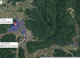 GPS情報 J0097♂ 2019.10.9.18:00~2019.10.16.14:00