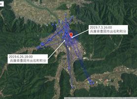 GPS情報 J0097♂ 2019.6.26.18:00~2019.7.3.16:00