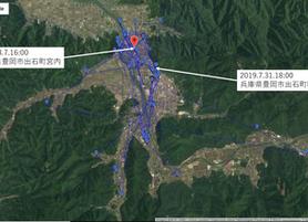GPS情報 J0097♂ 2019.7.31.18:00~2019.8.7.16:00
