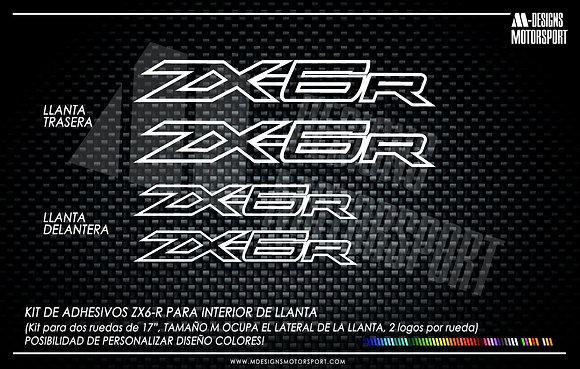 ZX6-R adhesivos interior de llanta kawasaki