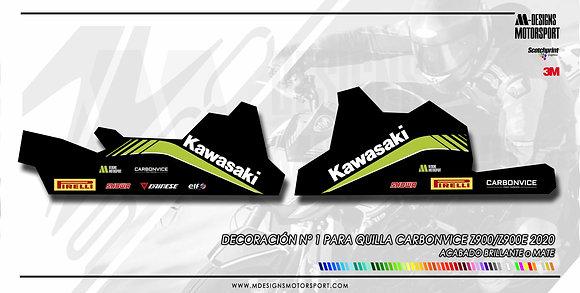 Kit de adhesivos DISEÑO Nº 1 quilla Carbonvice z900 2020
