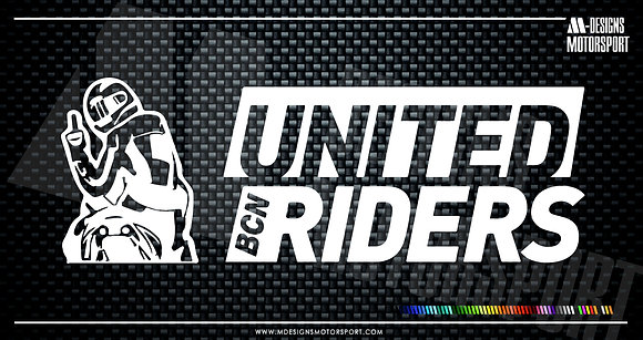 Adhesivo United Riders Bcn / 1 color