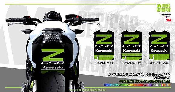 Adhesivo Z-EVO paso de rueda z650