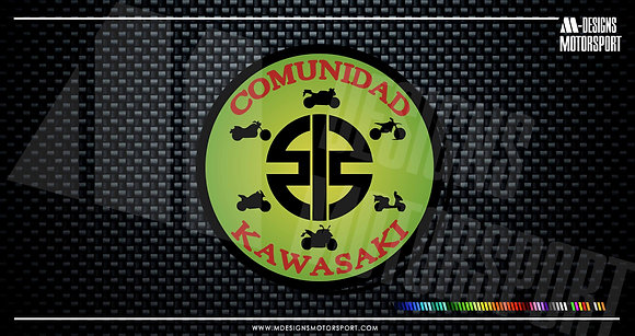 Adhesivo COMUNIDAD KAWASAKI en impresión
