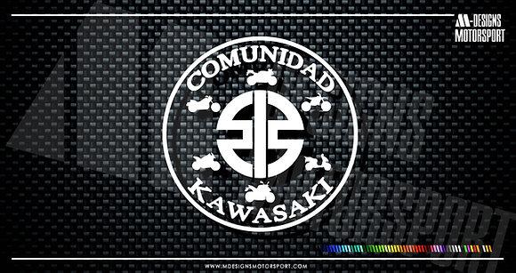 Adhesivo COMUNIDAD KAWASAKI