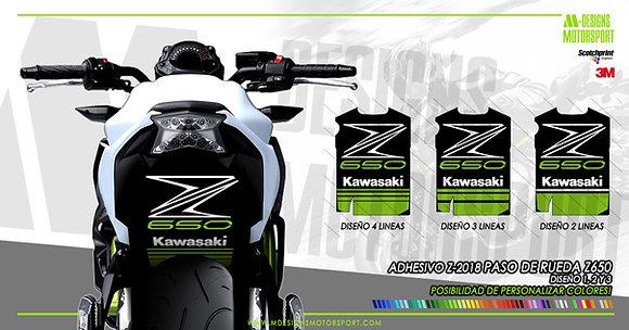 Adhesivo Z-RIDER paso de rueda z650