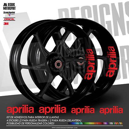 INTERIOR DE LLANTAS 4 LOGOS APRILIA