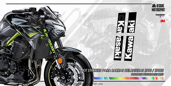 Kit stickers nº1 barras delanteras z900