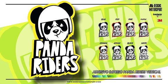 Adhesivo PANDA RIDERS VERTICAL