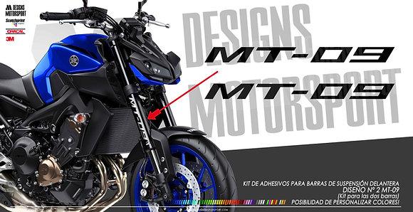 Adhesivos para barras delanteras MT-09 diseño nº2