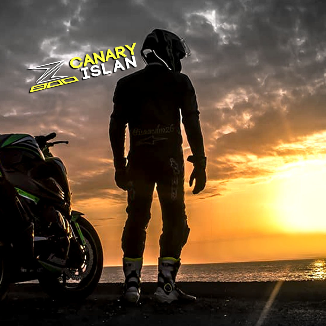 Sticker canary island Kawasaki z800