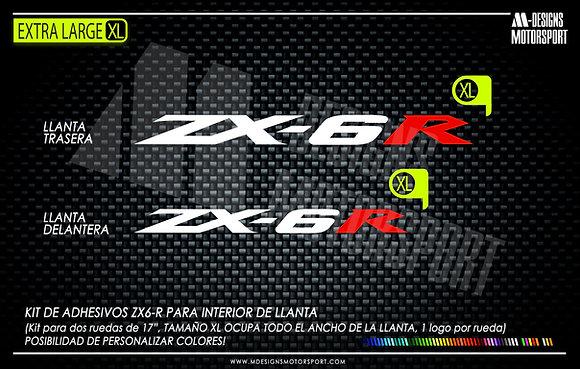 ZX-6r XL adhesivos interior de llanta kawasaki