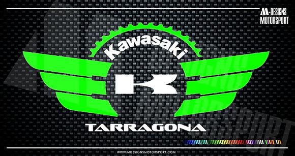 Adhesivo Comunidad Kawasaki Tarragona / 2 colores