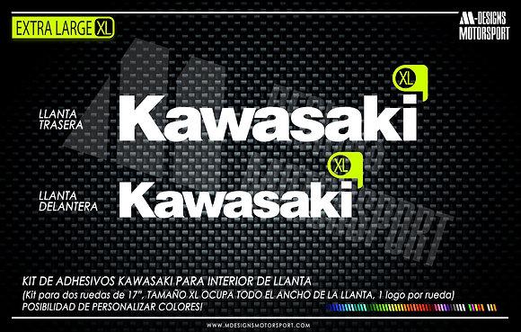 KAWASAKI XL adhesivos interior de llanta kawasaki
