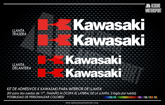 K KAWASAKI adhesivos interior de llanta kawasaki