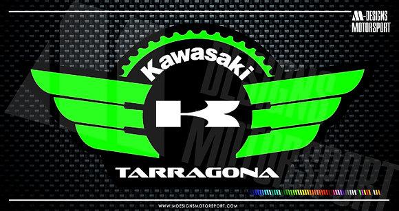 Adhesivo Comunidad Kawasaki Tarragona / base + 2 colores