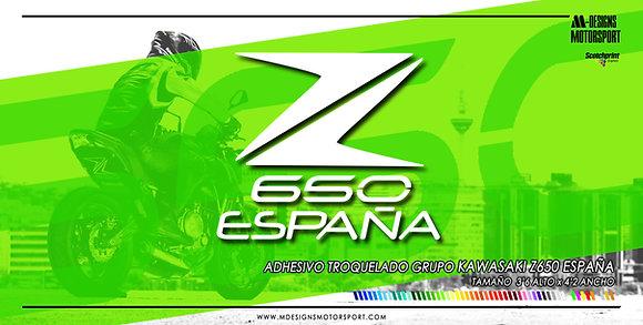 Adhesivo Kawasaki Z650 España / 1 color