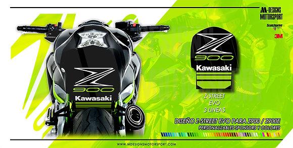 Paso de rueda Z-STREET EVO 3 LINEAS Z900