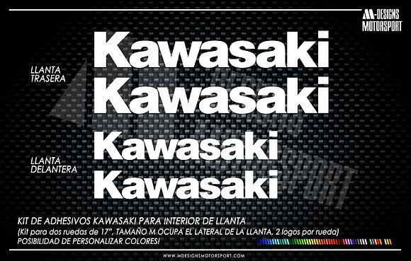 KAWASAKI adhesivos interior de llanta kawasaki