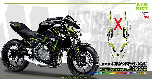 Kit sport EVO decoración z650 SIN PASO DE RUEDA