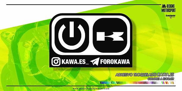 Adhesivo Kawa.es / 2 colores