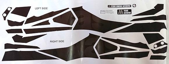 Sticker transversal Z800 / dark grey to black