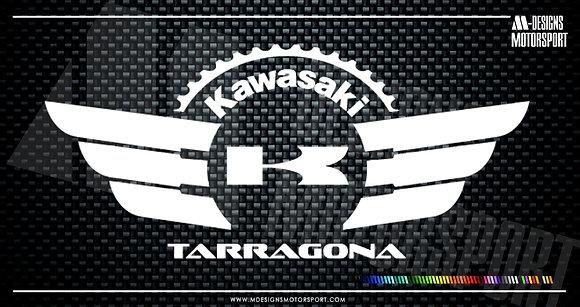 Adhesivo Comunidad Kawasaki Tarragona / 1 color