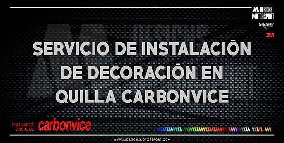 Servicio de instalación de decoración en QUILLA CARBONVICE