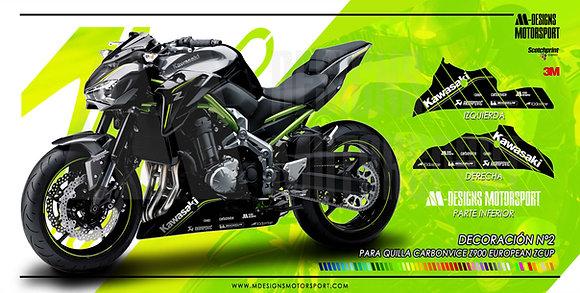 Kit de adhesivos DISEÑO Nº 2 quilla Carbonvice z900