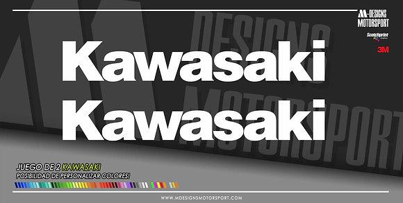 Pack de 2 logos kawasaki