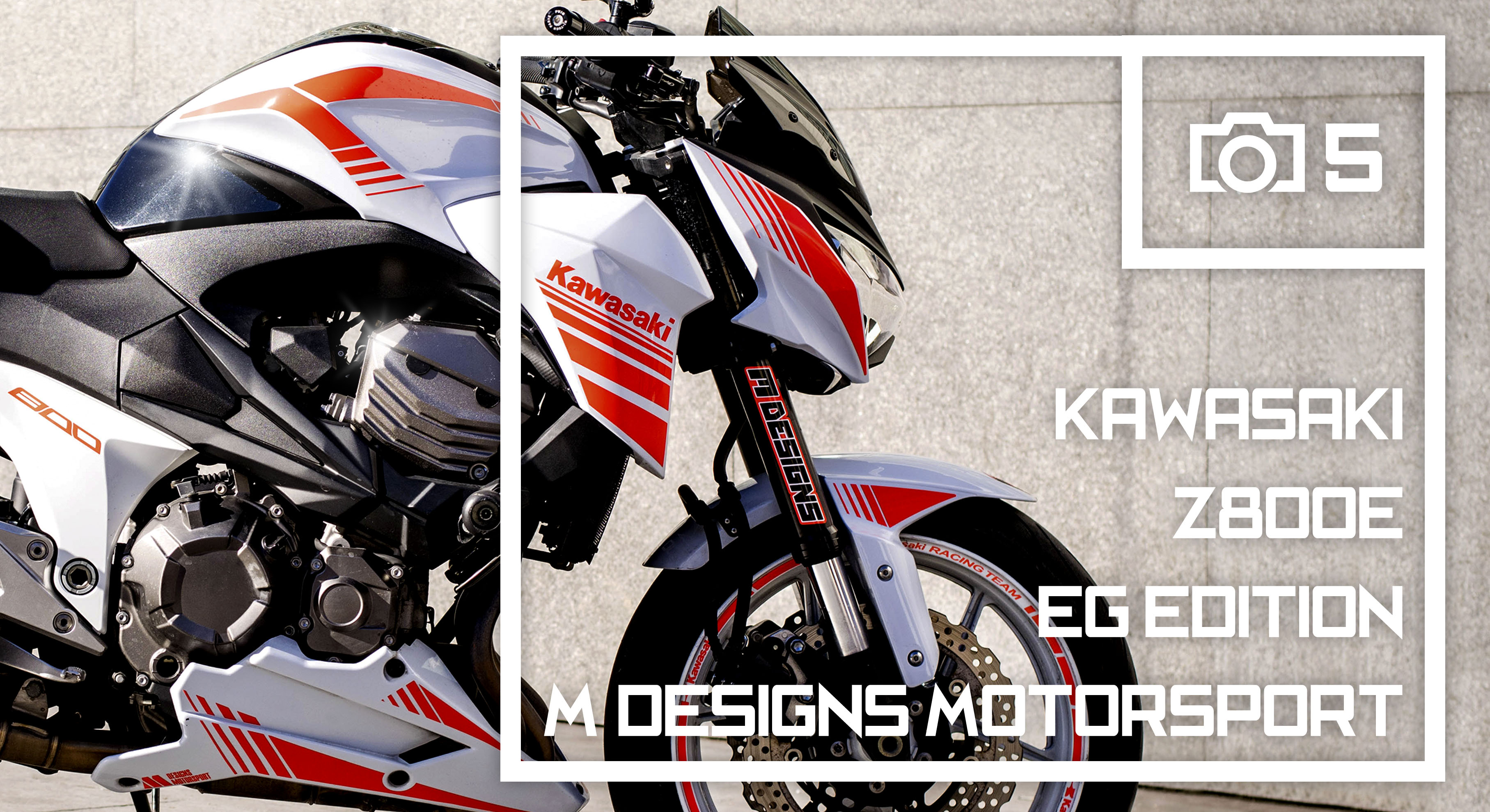 kawasaki z800 kit stickers line puig