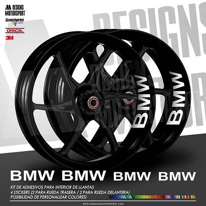 INTERIOR DE LLANTAS 4 LOGOS BMW