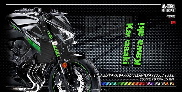 Kit stickers nº1 barras delanteras z800