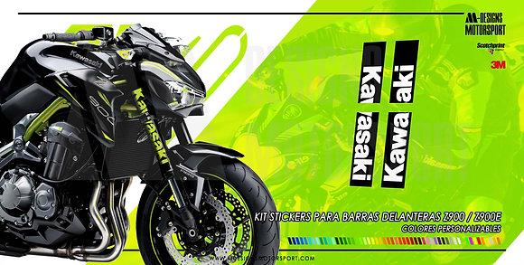 Kit stickers nº1 barras delanteras z900
